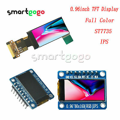 0.96 Inch IPS Full Color 80x160 LCD Screen ST7735 3.3V SPI for Arduino BSG