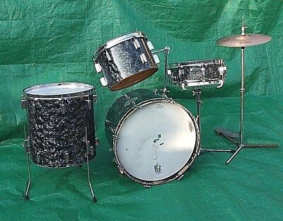 VINTAGE 1969 USA ROGERS DRUM MOUNT COLLETT PATINA WORKING M// 1 SPOKE AS SHOWN
