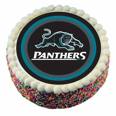 Penrith Panthers NRL Team Borded Edible Cake Image