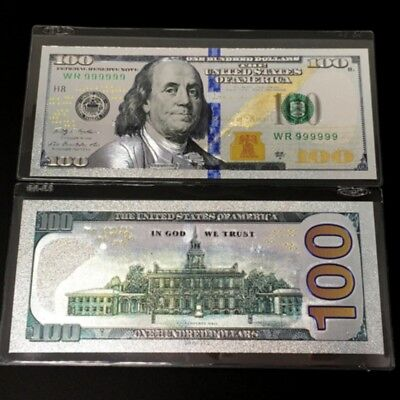 .999 Silver Certificates $100 Dollar Bill Silver Foil Banknote Collection