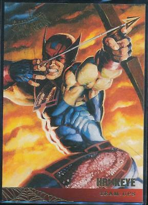 1995 Fleer Ultra Spider-Man Premiere Trading Card #119 Hawkeye