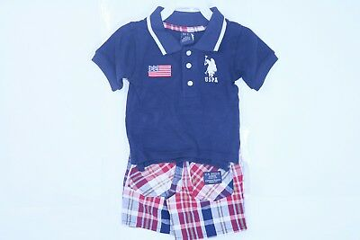 US Polo Assn Toddler Boys 2pc Short Set Size 2T 12m 18m and 24m $30