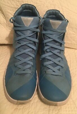 the latest 19dc4 bc799 Mens Nike Hyperdunk 2015 Basketball Shoes Light Blue   Silver Size 9