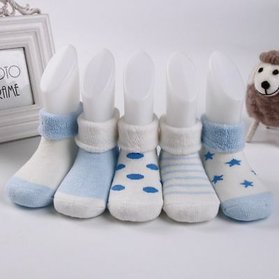 Kids Winter Warm Terry 5 Pairs Cotton Baby Socks Children's Socks NewBorn