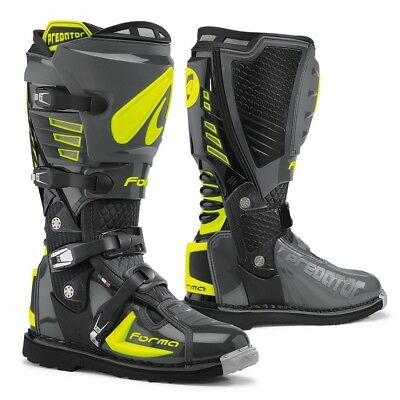 Forma Predator motocross boots, mens, grey, all sizes, pro, motorcycle, offroad