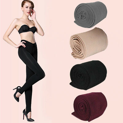 Women's Winter Thick Warm Stockings Skinny Pants Footless Slim Stretch Leggings