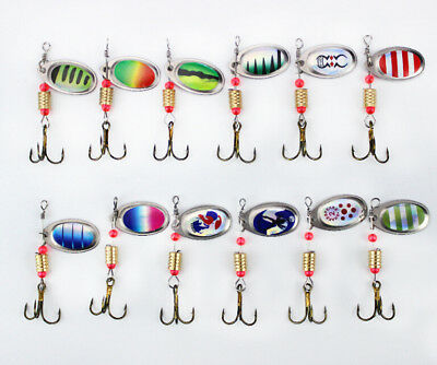4 Pcs Fishing Spoon Hook Spinner Bait Artificial Metal Hard Bass Lure Tackle Hot