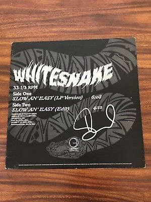 David Coverdale Signed Autographed Whitesnake Slow An Easy Album Record Rare