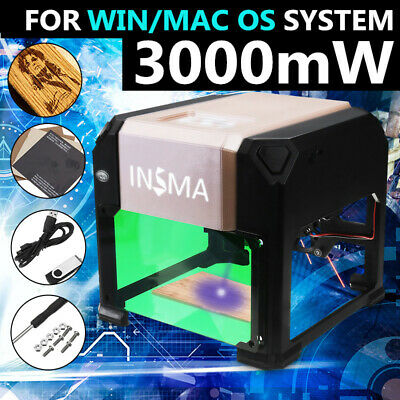 INSMA 2000mW USB Laser Engraver Printer Cutter Carver DIY Logo Engraving Machine