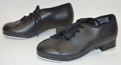 Dance Now Bloch Black Tap Shoes Lace Up Child's Size 9 N Techno Taps NEW NWOB