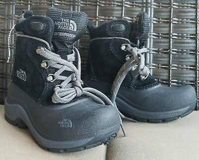 The North Face Toddler Winter WATERPROOF Girls Boys BLACK Boots Size 10 NWOB !!!