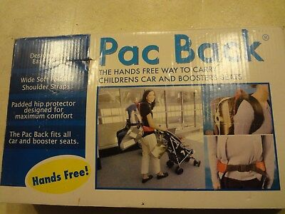 NEW PAC BACK Car Seat Carrier Adjustable Portable Red Infant Child