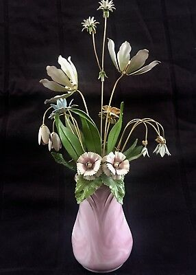 House of Igor Carl Faberge 1986 THE IMPERIAL PALACE BOUQUET Enamel Metal Floral