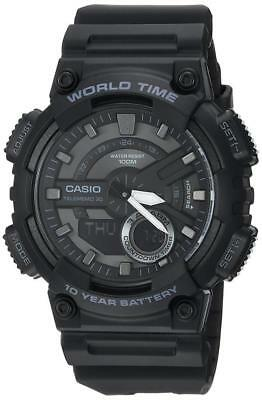 Casio Men's 'CLASSIC' Quartz Stainless Steel and Resin Casual Watch,...