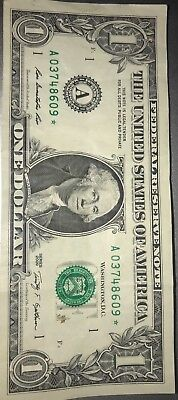 2009 one dollar bill star note BOSTON