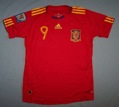 Spain Fernando Torres 2010 World Cup Red Football Jersey Shirt Mens Size Small S