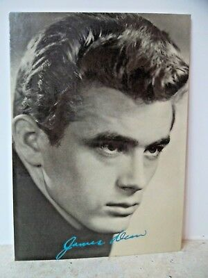 JAMES DEAN PHOTO POSTCARD - James Dean Foundation - Made in England 1985