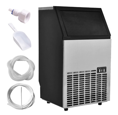 Commercial Ice Maker Stainless Steel Built-In Portable Restaurant 110LB Capacity