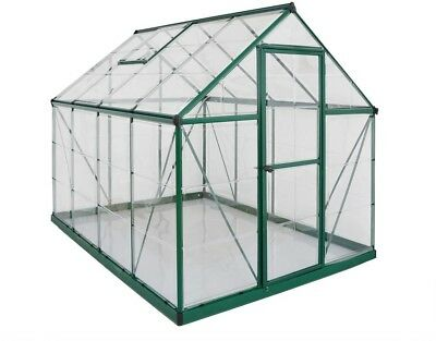 Palram Harmony 6 ft. x 8 ft. Polycarbonate Greenhouse in Green