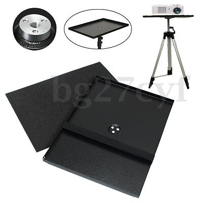 Notebook Laptop Projector Metal Tray Holder For Screw Adjustable Tripod Stand