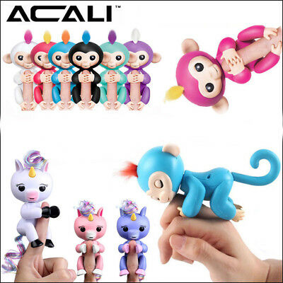 Finger Monkey/Unicorn Electronic Interactive Pet Toys Monkey Kids Gift