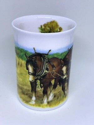 BN Boxed Shire Horses China Mug, Fine Bone China Mug, Vintage Farming Mug Gift,