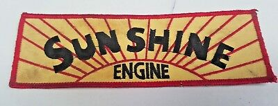 SUNSHINE ENGINES  Cloth PATCH