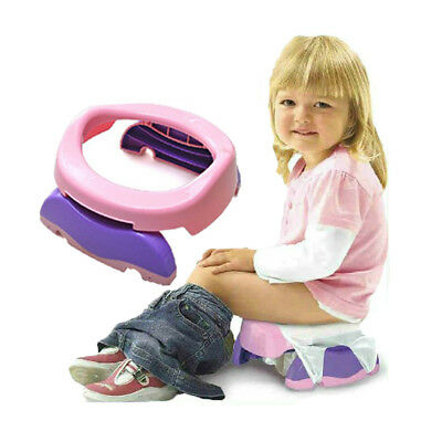 Portable Travel Potty Chair Foldable Baby Kids Toilet Safe Seat + 10 PP Bags