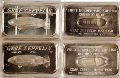 2 Graf Zeppelin Silver Bars Lot 1546