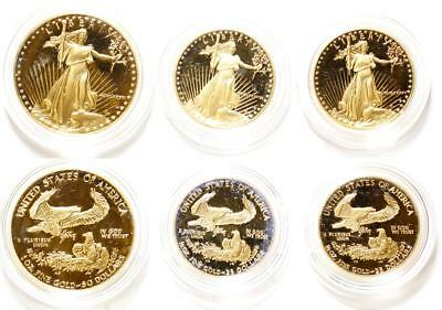 Set of American Eagle Gold Proof Coins: one 1 Tr Oz; two 1/2 Tr Oz Lot 1091