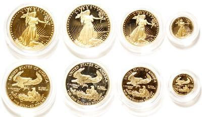 Set of American Eagle Gold Coins in 1, 1/2, & 1/10 Tr Oz sizes Lot 1092