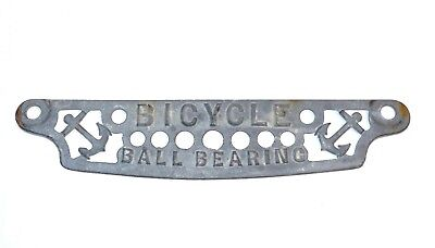 Vintage Cast Iron Bicycle Ball Bearing display badge anchor  Wringer