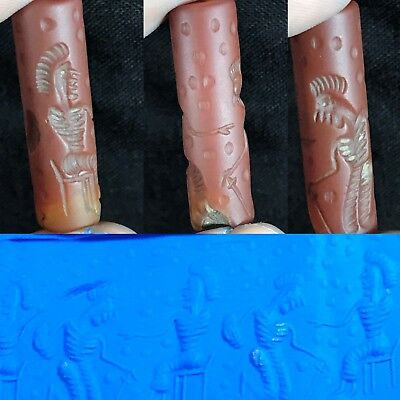 Rare Old Ancient Holy Land Agate carnelian Cylinder Seal