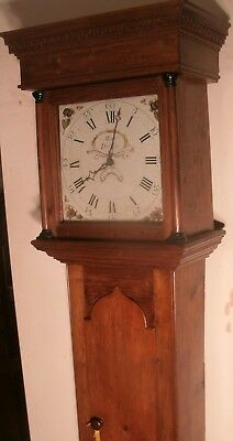"Antique Pine  Painted Dial "" Dursley""   Longcase / Grandfather Clock"