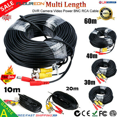 BNC DC CCTV Security Video Camera DVR Data Power Extension Cable 20M 30M 40m 60M