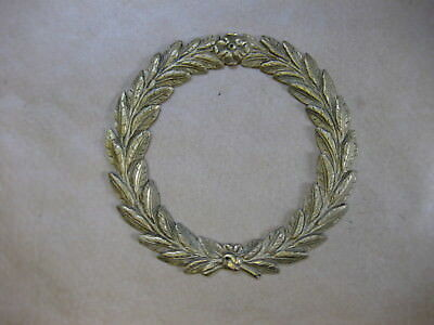 Antique Brass Decoration / Ornamentation for Clocks ~ Laurel Garland ~ Round