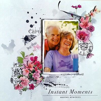 12 x 12 Handmade Scrapbook Page - Instant Moments