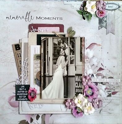 12 x 12 Handmade Scrapbook Page - Memorable Moments
