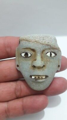 Pre-Columbian Teotihuacan stone pendant from Mexico. Ca. 600 ad.