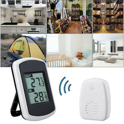 LCD Wireless Weather Station Temperature Station Indoor & Outdoor Thermometer