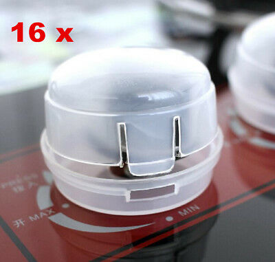 16 x Kitchen Protection for Baby Kid Safety Stove Oven Knob Cover Control Switch