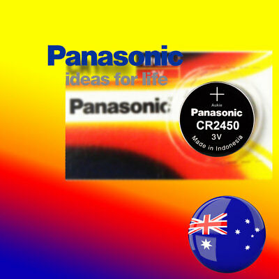 5 x Panasonic CR2450 Battery Blister Packing Lithium Cell Button Batteries Local