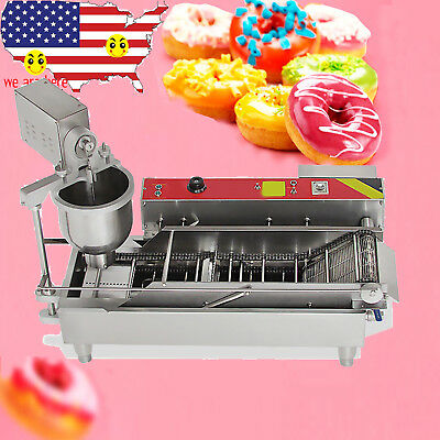 FDA CE 6KW 7L Commercial Automatic Donut Maker Making Machine w 3 Sets Free Mold
