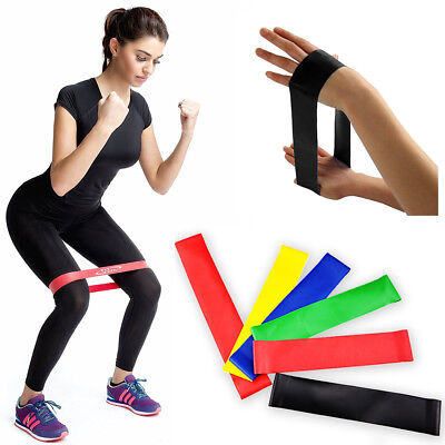 Band Rubber Fitness Yoga Loop Strength Resistance Sport Exercise Training Bands