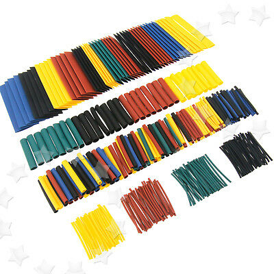 328Pcs 8 Sizes Assorted 2:1 Heat Shrink Sleeve Wire Cable Tubing Tube Wrap Kit
