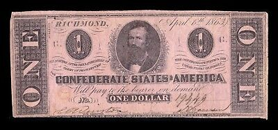 B-D-M United States 1 Dollar 1861 Confederate States of America Richmond