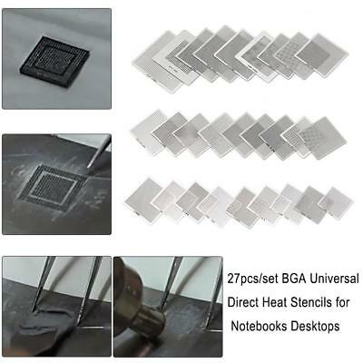 27pcs BGA Universal Direct Heat Stencils for Notebooks Laptop Desktop Kitchen