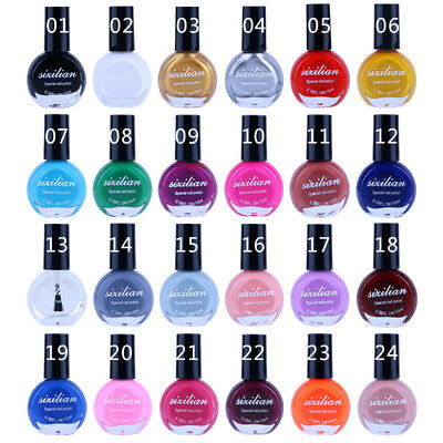 10ml Nail Art Stamping Template Painting Varnish Polish Manicure 24 Color ZP