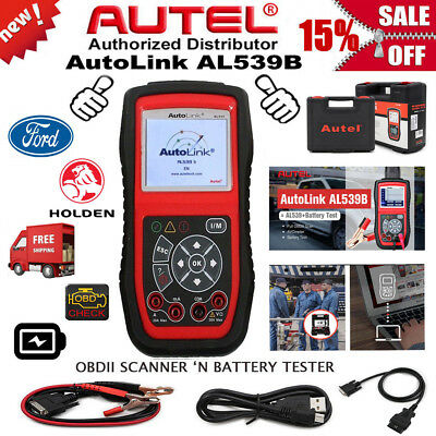 AUTEL AL539B OBDII Auto Diagnostic OBD2 Scan Tool Car Battery Tester FORD HOLDEN