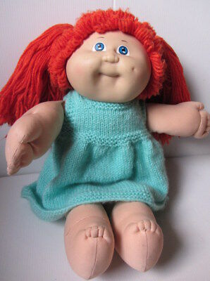 Vintage CABBAGE PATCH KID Girl DOLL Blue Eyes, Red Hair  OAA Coleco (1985)